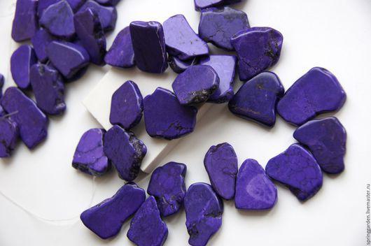 Для украшений ручной работы. Ярмарка Мастеров - ручная работа. Купить Говлит фиолетовый бусины ТРЕВЕЛЕР  лепестки. Handmade.