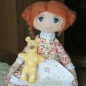 Куклы и игрушки ручной работы. Ярмарка Мастеров - ручная работа Маняша с медведем. Handmade.