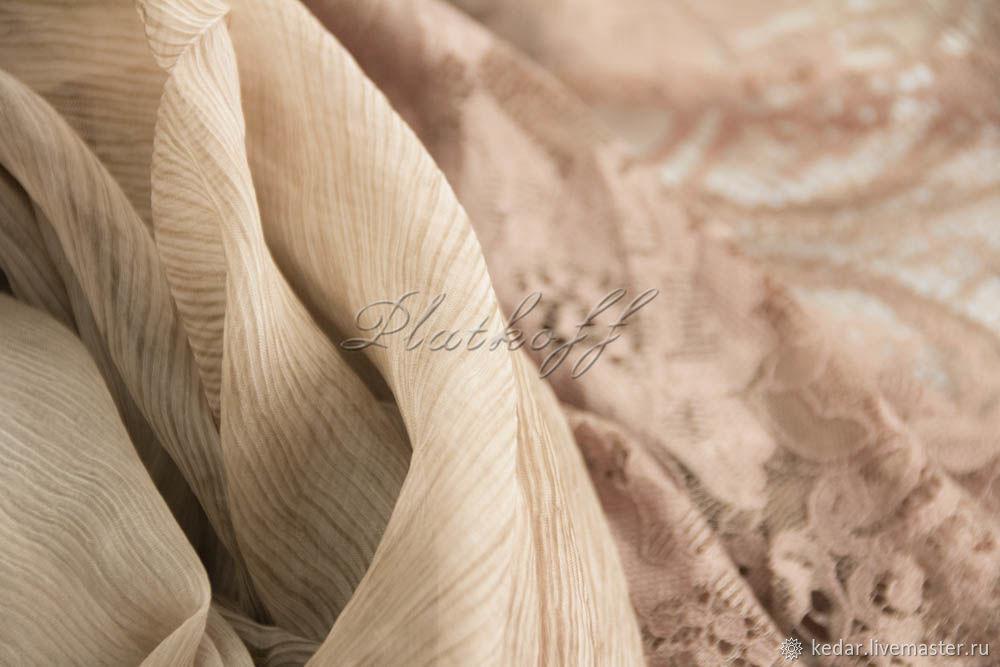Silk scarf 'luxury' fabric Valentino beige-brown, Wraps, Moscow,  Фото №1