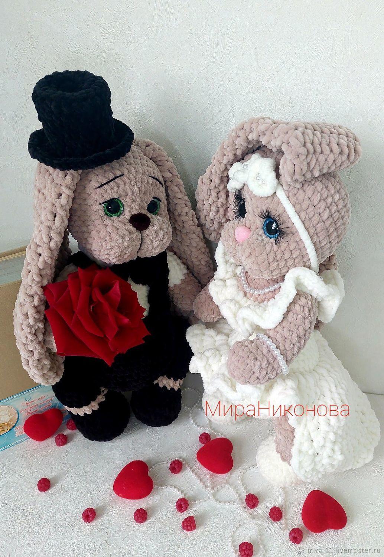 Свадебные игрушки, подарок на свадьбу,зайки, Мягкие игрушки, Орел,  Фото №1
