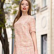 Одежда handmade. Livemaster - original item Dress in Chanel style champagne color. Handmade.