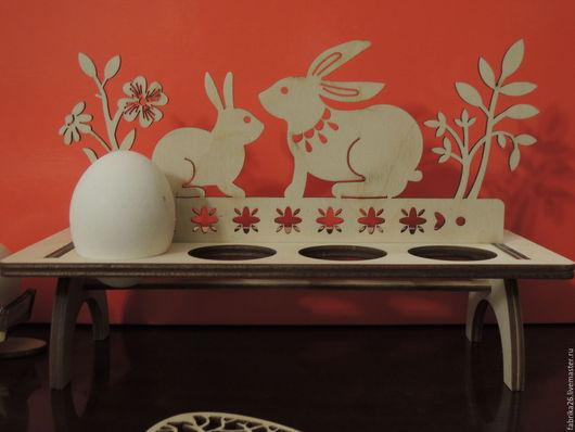 Подарки на Пасху ручной работы. Ярмарка Мастеров - ручная работа. Купить подставка зайцы на 8 яиц. Handmade. Пасха