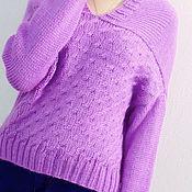 Одежда ручной работы. Ярмарка Мастеров - ручная работа #вязаный женский свитер, вязаный джемпер из шерсти. Handmade.