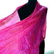 Аксессуары handmade. Livemaster - original item Scarf silk bright fuchsia pink women`s long. Handmade.