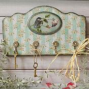 Для дома и интерьера ручной работы. Ярмарка Мастеров - ручная работа вешалка для кухни Птенец и роза. Handmade.