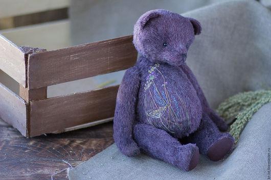 Мишки Тедди ручной работы. Ярмарка Мастеров - ручная работа. Купить Мишка тедди Грег. Handmade. Бордовый, мешковина, травы