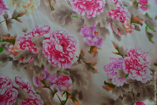 Шитье ручной работы. Ярмарка Мастеров - ручная работа. Купить Ткань натуральный шелк Весна. Handmade. Ткань, шелк 100%