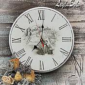 Для дома и интерьера ручной работы. Ярмарка Мастеров - ручная работа часы настенные шебби Часы и  Птичка. Handmade.