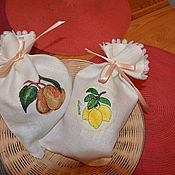 Для дома и интерьера handmade. Livemaster - original item Linen bags of dried fruit