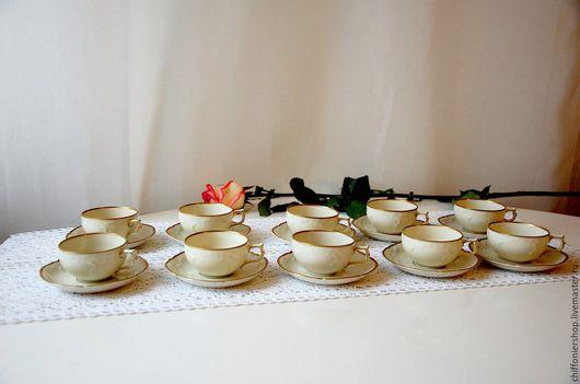 Винтажная посуда. Ярмарка Мастеров - ручная работа. Купить Винтажные кофейные пары Rosenthal Sanssouci. Handmade. Фарфор, кофе, позолота