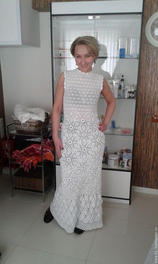 Платья ручной работы. Ярмарка Мастеров - ручная работа. Купить платье летний зефир. Handmade. Платье нарядное, платье вязаное