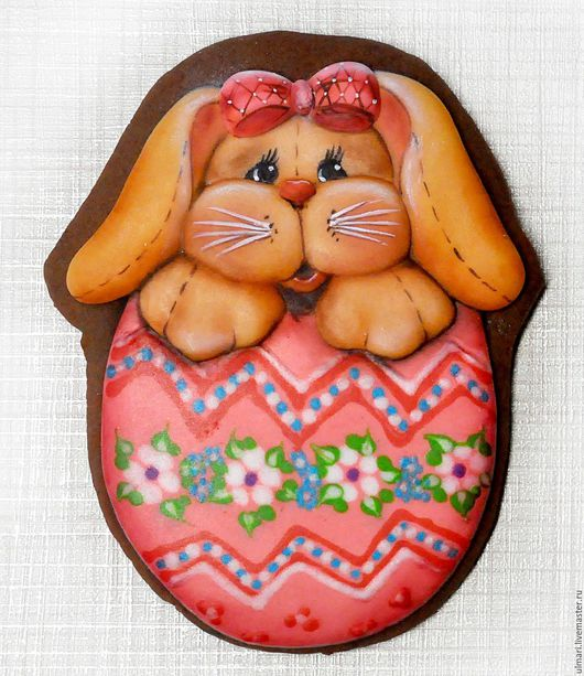 Кулинарные сувениры ручной работы. Ярмарка Мастеров - ручная работа. Купить Пряник имбирный Пасхальный кролик. Кулинарный сувенир. Handmade.