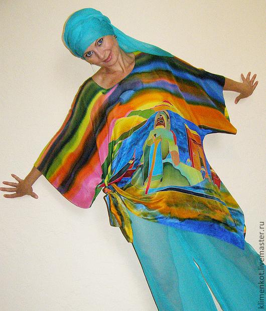 Блузки ручной работы. Ярмарка Мастеров - ручная работа. Купить блуза-У моря(С.Дали). Handmade. Батик, блуза