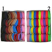 Резинки для волос в упаковках разноцветные (80шт) основа