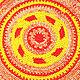 """Текстиль, ковры ручной работы. Заказать Коврик """"Красно-Солнышко"""" текстильный вязаный. Лариса Афонина (laraigor). Ярмарка Мастеров."""