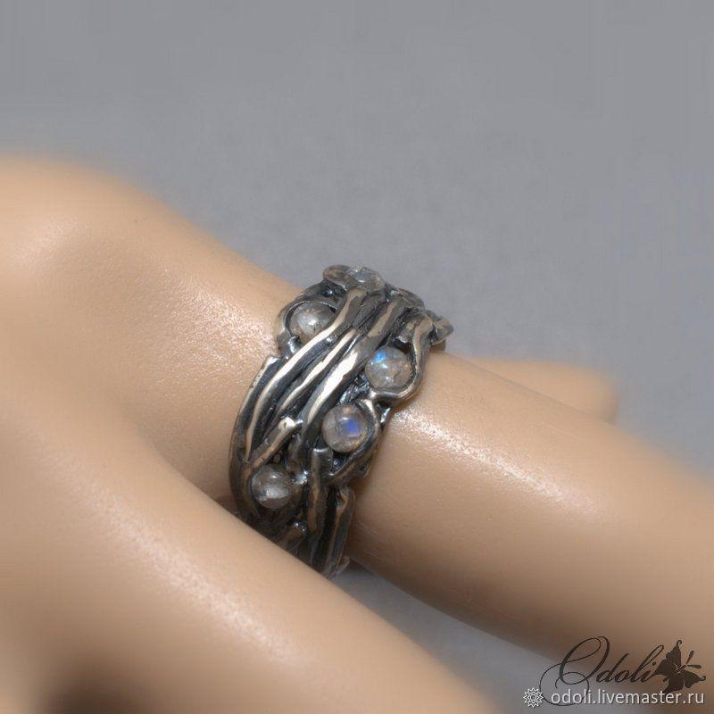 Серебряное кольцо Twigs с лунным камнем, Кольца, Красноярск,  Фото №1
