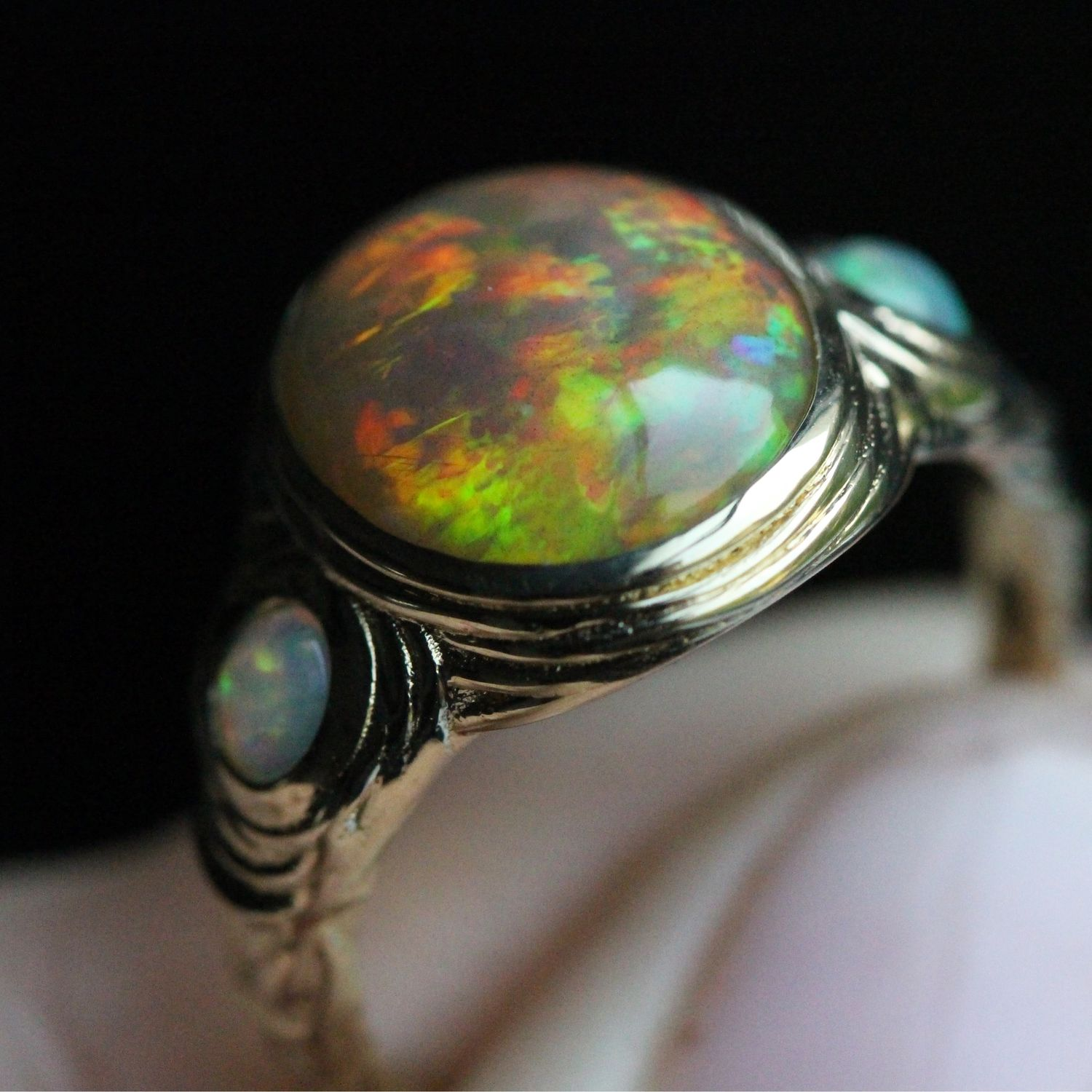 Trinity ring with fire opals, Rings, Moscow,  Фото №1