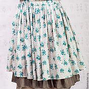 Одежда ручной работы. Ярмарка Мастеров - ручная работа Юбка бохо в цветочек на резинке. Handmade.
