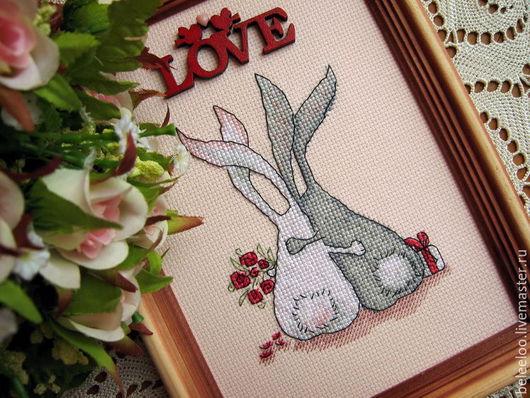 Животные ручной работы. Ярмарка Мастеров - ручная работа. Купить С любовью по жизни. Handmade. Кролики, подарок влюбленным