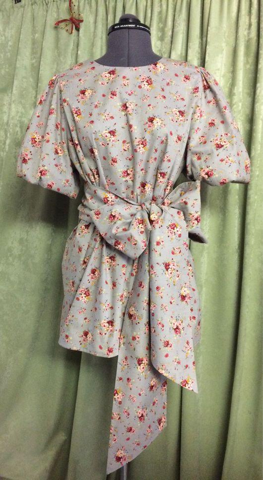 Блузки ручной работы. Ярмарка Мастеров - ручная работа. Купить Блузка из батиста с рукавом фонарик. Handmade. Блузка, блузка из шелка