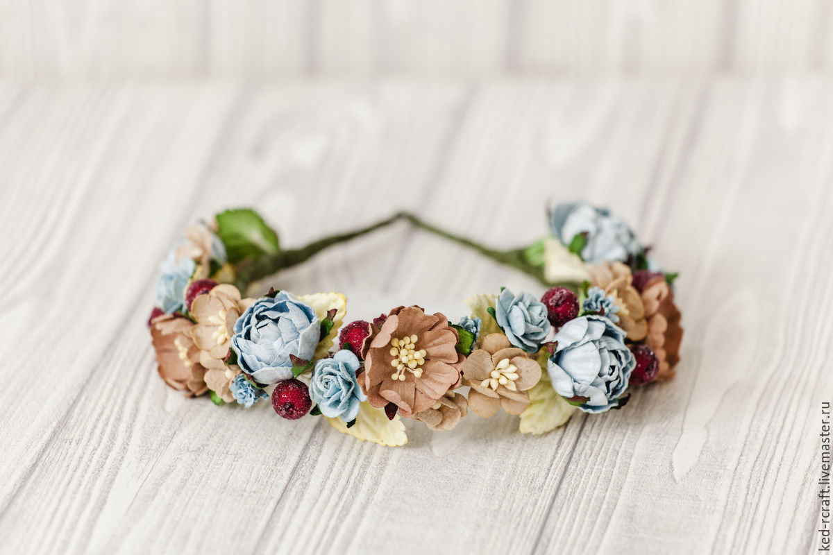 Floral wreath hair decoration blue flowers in hair shop online on handmade floral wreath hair decoration blue flowers in hair svetlana dobritca kedr izmirmasajfo