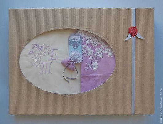 подарочная коробка с лавандовым саше