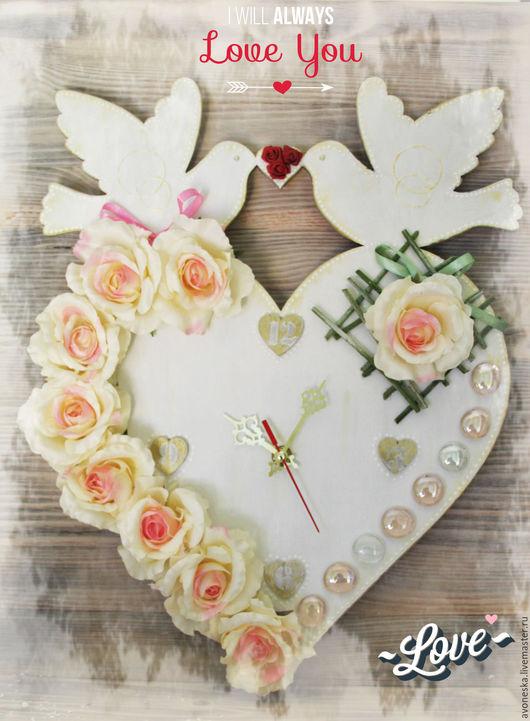 Подарки на свадьбу ручной работы. Ярмарка Мастеров - ручная работа. Купить Часы на свадьбу. Handmade. Белый, свадебные часы