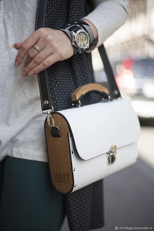 Leather women bag Big White Morocco, Classic Bag, St. Petersburg,  Фото №1
