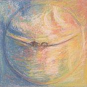 """Картины и панно ручной работы. Ярмарка Мастеров - ручная работа Мандала """"Стихии Вода и Воздух"""". Handmade."""