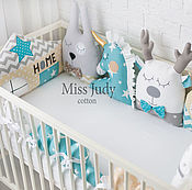 Для дома и интерьера handmade. Livemaster - original item Bumpers in the crib. Handmade.