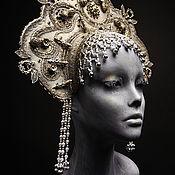 Русский стиль handmade. Livemaster - original item Copy of Exclusively handmade old Russia style headdress KOKOSHNIK. Handmade.
