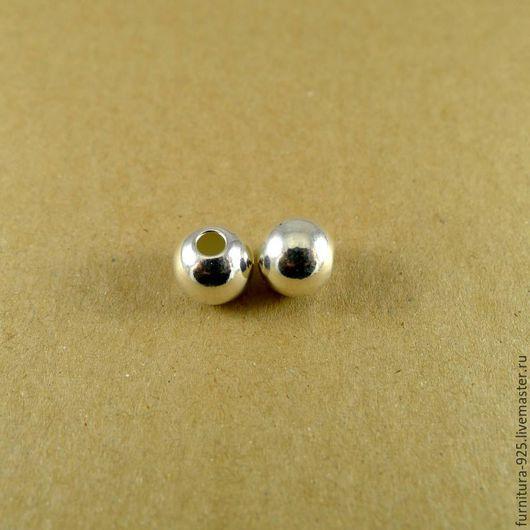 Для украшений ручной работы. Ярмарка Мастеров - ручная работа. Купить Серебряная бусина 10 мм из стерлингового серебра 925 пробы. Handmade.
