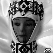 """Одежда ручной работы. Ярмарка Мастеров - ручная работа Корона и воротник """"Белая Королева"""". Handmade."""