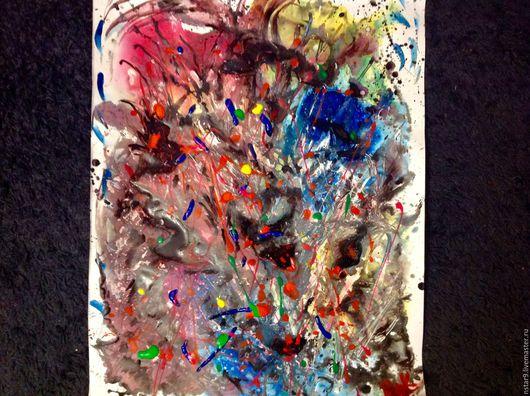 Абстракция ручной работы. Ярмарка Мастеров - ручная работа. Купить Эмоции. Страсть.. Handmade. Ярко-красный, недорогая картина, абстракция