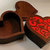 Коробки ручной работы. Ярмарка Мастеров - ручная работа Шкатулка в форме сердца. Handmade.