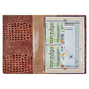 Канцелярские товары handmade. Livemaster - original item Document folder A4 Brown Caiman. Handmade.