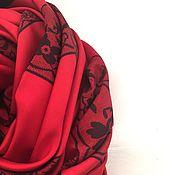 """Платки ручной работы. Ярмарка Мастеров - ручная работа Шелковый платок из ткани Valentino""""Кружева"""". Handmade."""