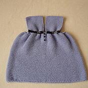 Одежда детская handmade. Livemaster - original item Warm dress knit dress for babe. Handmade.