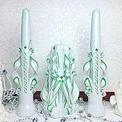 Свадебные свечи ручной работы. Ярмарка Мастеров - ручная работа Свадебные свечи: Резные, ручной работы. Handmade.