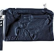Сумки и аксессуары handmade. Livemaster - original item 3D Clutch bag genuine leather