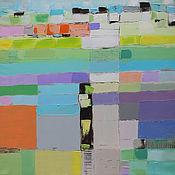"""Картины и панно ручной работы. Ярмарка Мастеров - ручная работа """"Happy Hill"""" 65х65 зеленая картина маслом мастихином пейзаж. Handmade."""