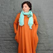 Одежда handmade. Livemaster - original item Dress with diamond sleeves pumpkin. Art.0995. Handmade.