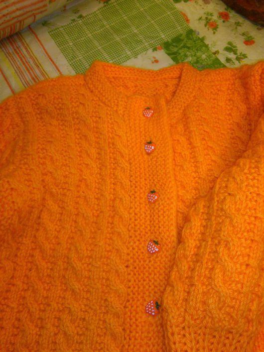 Кофты и свитера ручной работы. Ярмарка Мастеров - ручная работа. Купить Кофточка для девочки ручной вязки. Handmade. Рыжий