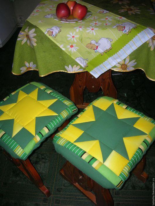 Кухня ручной работы. Ярмарка Мастеров - ручная работа. Купить сидушка на табурет. Handmade. Комбинированный, сидушка, хлопок