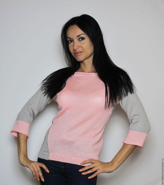 """Кофты и свитера ручной работы. Ярмарка Мастеров - ручная работа. Купить Джемпер """"Новый день"""". Handmade. Бледно-розовый, перевертыш"""