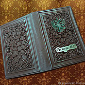 Канцелярские товары handmade. Livemaster - original item Cover on the diary of leather with personalization. Handmade.