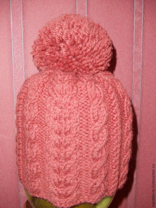 """Шапки ручной работы. Ярмарка Мастеров - ручная работа. Купить """"Скоро зима"""" вязаная шапка. Handmade. Однотонный, красно-кирпичный"""