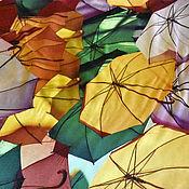 """Материалы для творчества ручной работы. Ярмарка Мастеров - ручная работа Хлопок штапель """"Зонтики"""". Handmade."""