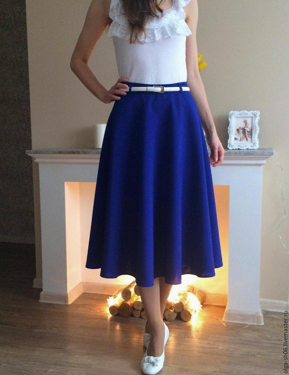 Синие юбки для работы