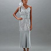 Одежда ручной работы. Ярмарка Мастеров - ручная работа Платье шёлковое с кружевным жилетом Lipa 17. Handmade.